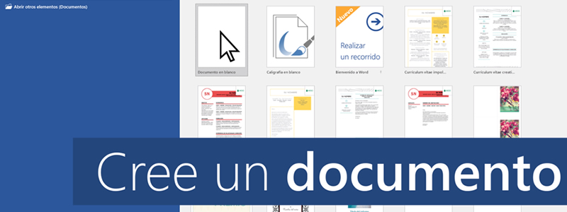 ¿Cómo crear un documento en Word?